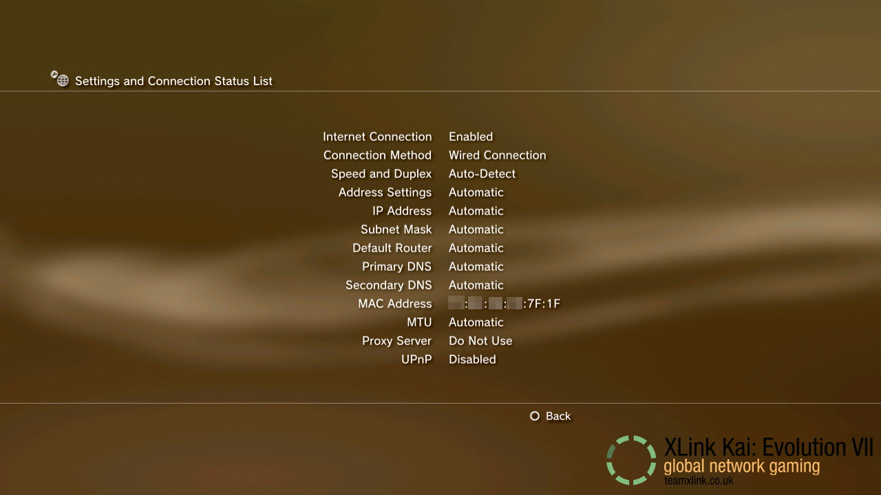 PS3 3 Settings and Connection Status List.jpg