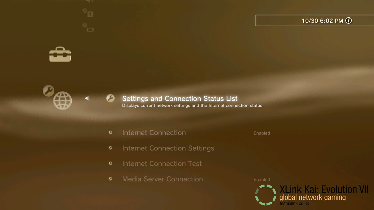 PS3 2 Settings and Connection Status List.jpg